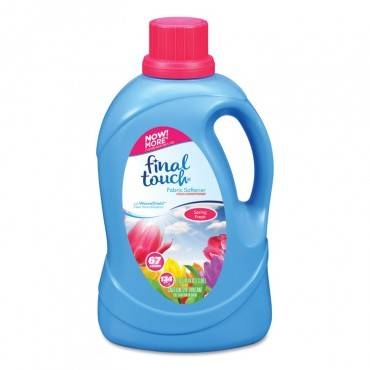 Final Touch  SCENTED FABRIC SOFTENER, SPRING FRESH, 134 OZ BOTTLE FINTO37EA 1 Each
