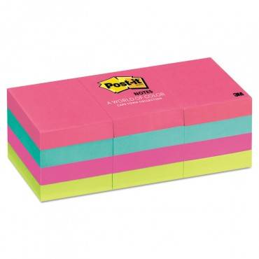 Original Pads In Cape Town Colors, 1 3/8 X 1 7/8, 100-sheet, 12/pack