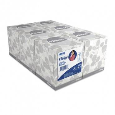 Boutique White Facial Tissue, 2-ply, Pop-up Box, 95 Sheets/box, 6 Boxes/pack