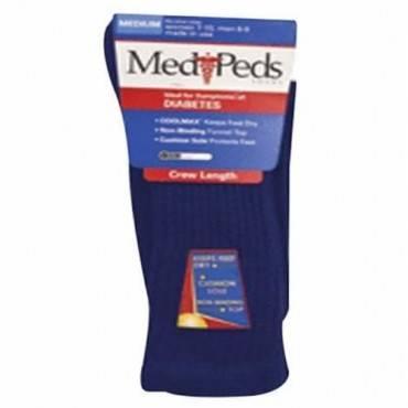Medipeds diabetic crew sock medium, navy part no. n8362 (3/package)