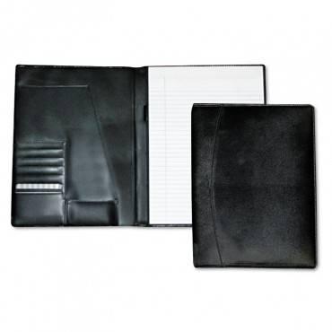 Men's Classic Pad Folio/writing Pad, 8 1/2 X 11, Black, Each