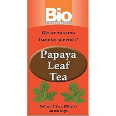 Bio Nutrition Inc Tea - Papaya Leaf - 30 bags