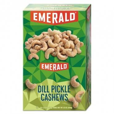 Snack Nuts, Dill Pickle Cashews, 1.25 Oz Tube, 12/box
