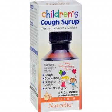 Natrabio Children's Cough Syrup Cherry Berry - 4 Fl Oz