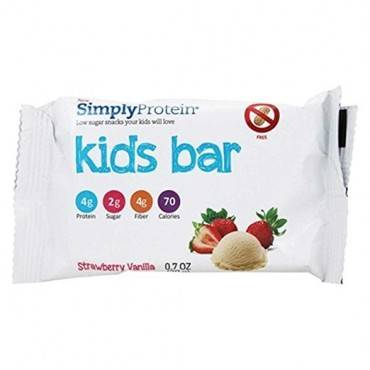 SimplyProtein Kids Bar - Strawberry Vanilla - .7 oz - Case of 12