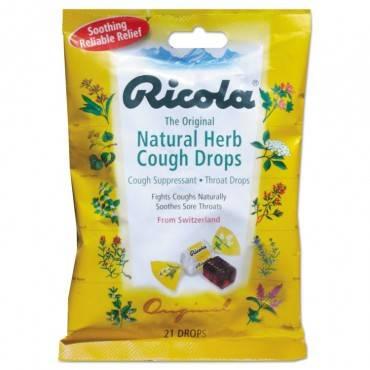 Cough Drops, Natural Herb, 21 Drops/bag