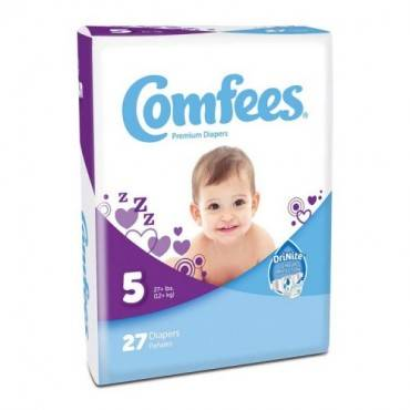 Comfees Baby Diapers - Size 5 (27/Package)