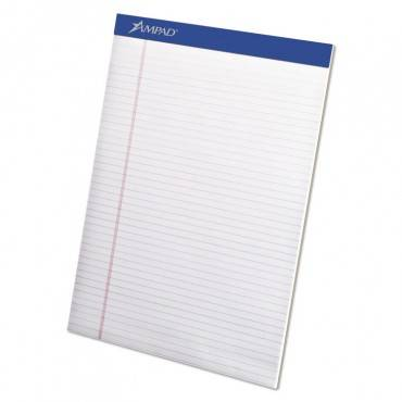 Legal Ruled Pads, Narrow Rule, 8.5 X 11.75, White, 50 Sheets, 4/pack