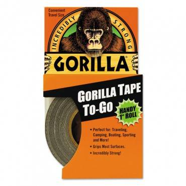 "Gorilla Tape, 1.5"" Core, 1"" X 10 Yds, Black"