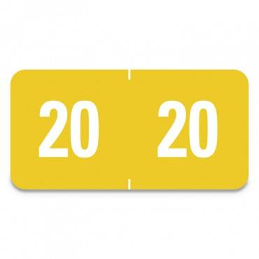 Smead  YEARLY END TAB FILE FOLDER LABELS, 1 X 1/2, YELLOW, 250 LABELS/PACK 67920 250 package