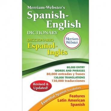 Merriam-Webster Spanish-English Dictionary Dictionary Printed Book - Spanish, English (EA/EACH)