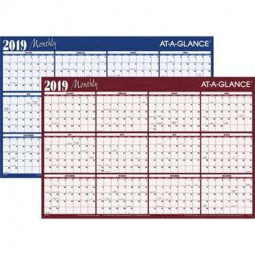 At-A-Glance Erasable/Reversible Horizontal Yearly Wall Planner (EA/EACH)