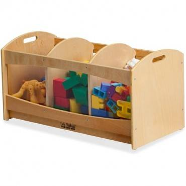 ECR4KIDS Birch See-Thru Storage Bin (EA/EACH)