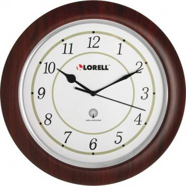 "Lorell 13-1/4"" Round Wood Wall Clock (EA/EACH)"