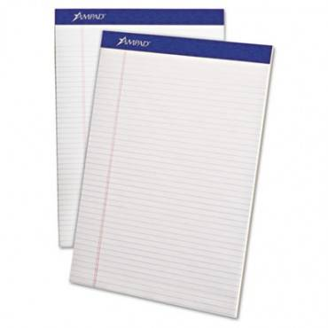 Perforated Writing Pads, Narrow Rule, 8.5 X 11.75, White, 50 Sheets, Dozen