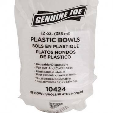 Genuine Joe Reusable Plastic Bowls (PK/PACKAGE)