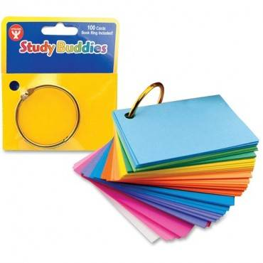 Hygloss Bright Study Buddies Flash Cards (PK/PACKAGE)