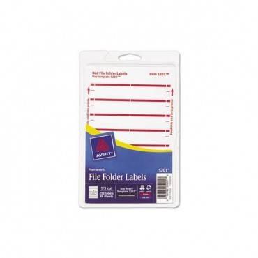 "Printable 4"" X 6"" - Permanent File Folder Labels, 0.69 X 3.44, White, 7/sheet, 36 Sheets/pack"