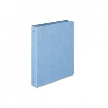 "Presstex Round Ring Binder, 3 Rings, 1"" Capacity, 11 X 8.5, Light Blue"