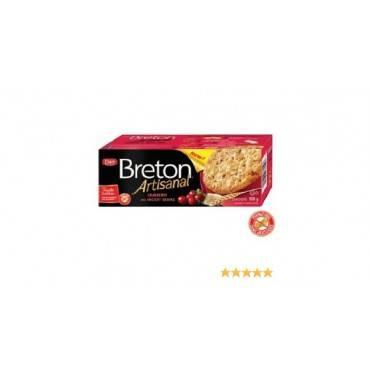 Breton/dare - Artisanal Grain Crackers - Cranberry - Case Of 6 - 5.29 Oz.