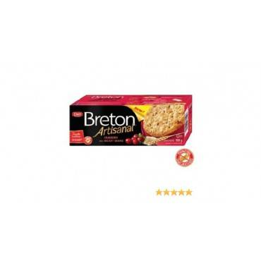Dare Breton Artisanal Grain Crackers - Cranberry - Case Of 6 - 5.29 Oz.
