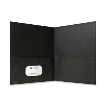 Sparco Simulated Leather Double Pocket Folders (BX/BOX)