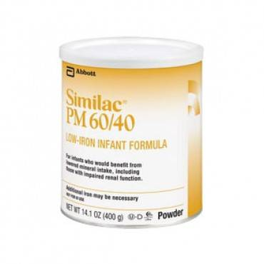 Similac pm 60/40 retail 1lb can part no. 00850 (6/case)