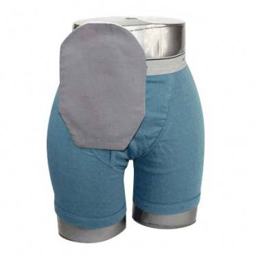 """Daily Wear Pouch Cover, Closed End, Fits Flange Opening of 3/4"""" to 2-1/4"""", Overall Length 9"""", Gray Part No. 58283 Qty 1"""