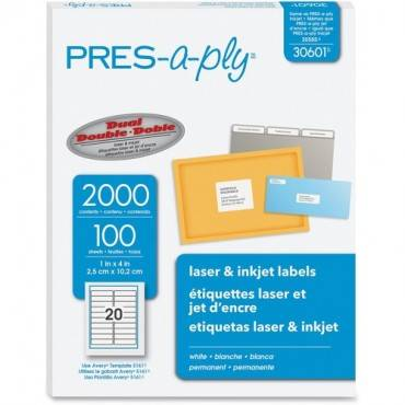 PRES-a-ply Labels for Laser and Inkjet Printers (BX/BOX)