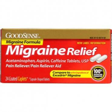 Migraine Relief Coated Caplet (24 Count) Part No. Lp14581 (576/case)