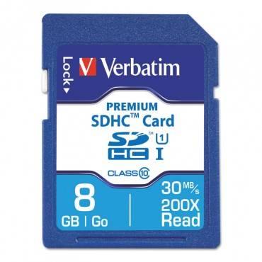 8GB PREMIUM SDHC MEMORY CARD, USH-1 V10 U1 CLASS 10