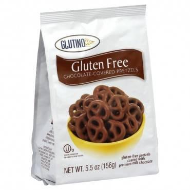 Glutino Pretzels - Chocolate Covered - Case Of 12 - 5.5 Oz.