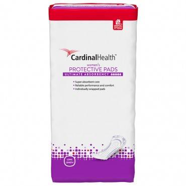 Cardinal Health Bladder Control Pad, Ultimate Absorbency, Long Length Part No. BCPUL110 - 27 Per Package