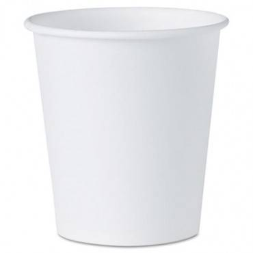 Dart  White Paper Water Cups, 3oz, 100/Pack